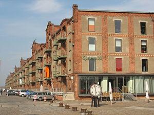 Ports of Bremen - Converted warehouses in Überseestadt