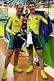 070908 - Modra and Lawrence with flag - 3b - crop.jpg