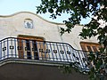 072 Cal Jaques (Mollerussa), balcó i Sant Antoni.JPG