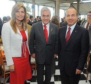 Chile–Mexico relations - Former Presidents Felipe Calderón and Sebastián Piñera in Mexico City