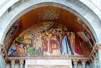 0 Venise, mosaïque extérieure de la basilique Saint-Marc.JPG