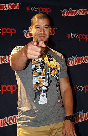 Rigo Morales - Morales at a panel on hip hop and comics at the 2014 New York Comic Con