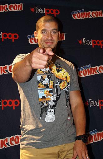 Rigo Morales - Morales at a panel on hip hop and comics at the 2014 New York Comic Con