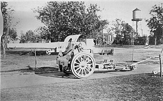 Canon de 155 L Modele 1917 Schneider - Canon de 155 L Modele 1917 in firing position