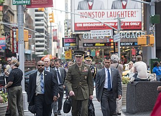 Joseph Dunford - Dunford in Times Square after speaking at the United Nations