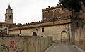 165 Castell de Llorenç del Penedès, façana est, i campanar de Sant Llorenç.JPG