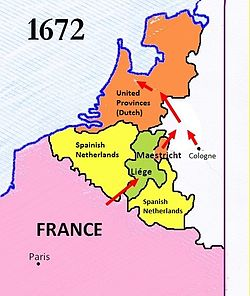1672 Dutch War.jpg. The French offensive of 1672