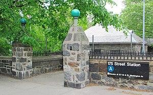 175th Street (IND Eighth Avenue Line) - Stone entranceway on Fort Washington Avenue at 175th Street