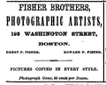 1868 Fisher Brothers photographer advert BostonDirectory.png