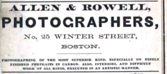 1880 Allen and Rowell photographers advert 25 Winter Street in Boston USA.png