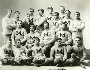 1891 Michigan Wolverines football team - Image: 1891 Michigan Wolverines football team
