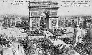 Paris between the Wars (1919–1939) - Victory parade on July 14, 1919 at the Place de l'Etoile