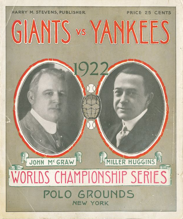 A program from the 1922 World Series.