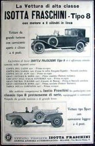 Isotta Fraschini Tipo 8 - 1923 Isotta Fraschini Tipo 8 Italian ad