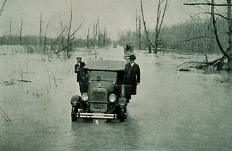 U.S. Route 51 - US 51 between Mounds and Cairo, during the Great Mississippi Flood of 1927.