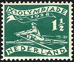 1928 Summer Olympics stamp of the Netherlands rowing.jpg