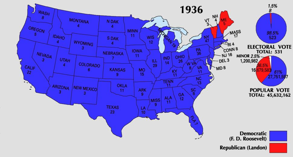 1936 Electoral Map