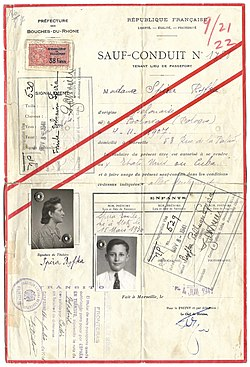 1941 French Vichy SAFE - CONDUCT travel document issued to a Jewish refugee.jpg