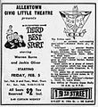 1960 - Nineteenth Street Theater Ad - 3 Feb MC - Allentown PA.jpg