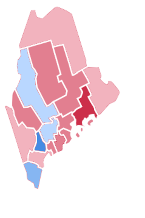 United States presidential election in Maine, 1976 - Image: 1976 Presidential election in Maine county results