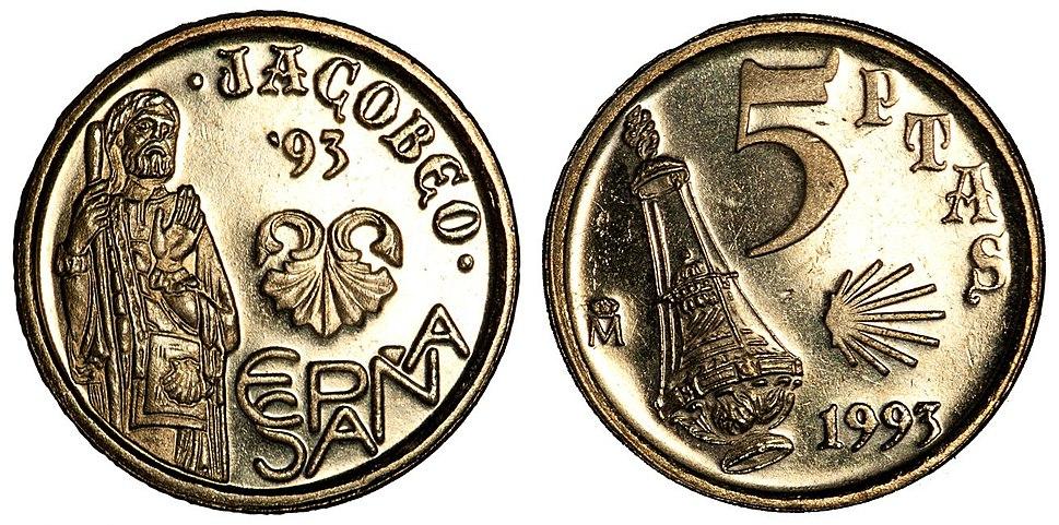 1993 5 Pesetas