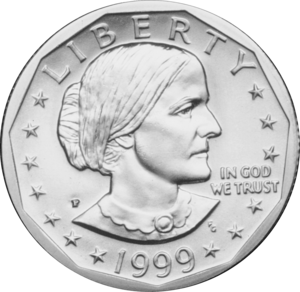 "Frank Gasparro - Gasparro designed both the obverse (pictured) and reverse of the Susan B. Anthony dollar, which he called his ""top achievement"", though the coin was largely rejected by the American public"