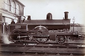 LNWR Teutonic Class - No. 1301 Teutonic in black livery