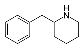 English: 2-Benzylpiperidine, a stimulant drug ...