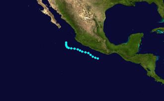 1952 Pacific hurricane season - Image: 2 E 1952 track