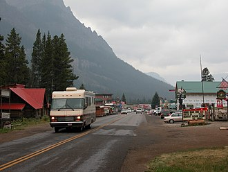 Cooke City-Silver Gate, Montana - Entering Cooke City from the East