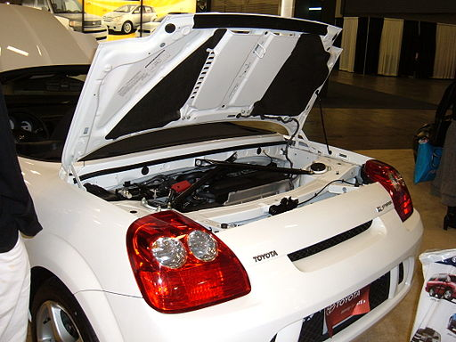 2005 white Toyota MR2 engine