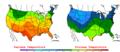 2006-05-03 Color Max-min Temperature Map NOAA.png