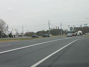 U.S. Route 50 Business (Salisbury, Maryland) - US 50 Bus. at Tilghman Drive in Salisbury.