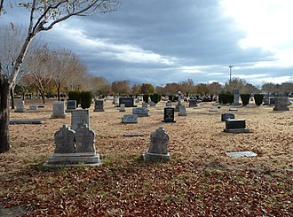 Woodlawn Cemetery (Las Vegas) - Image: 2010 1218 Woodlawn Cemetery