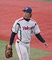 20111015 Yuuichi Matsumoto, outfielder of the Tokyo Yakult Swallows, at Yokohama Stadium.jpg