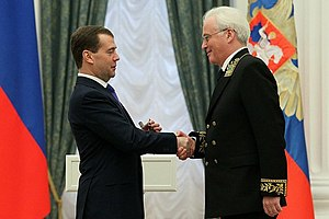 "Vitaly Churkin - Awarding the order ""For Merit to the Fatherland"" IV class. 20 February 2012"