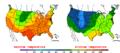 2013-05-21 Color Max-min Temperature Map NOAA.png