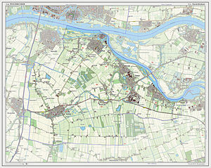 Woudrichem - 2013 map of the municipality