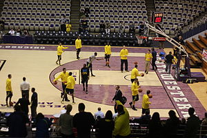 Shootaround - Pregame shootaround of the 2012–13 Michigan Wolverines in their 2012–13 Big Ten Conference season opener at Welsh-Ryan Arena on January 3, 2013