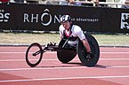 2013 IPC Athletics World Championships - 26072013 - Mickey Bushell second of the Men's 100m - T53.jpg