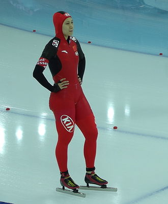 Zhang Hong (speed skater) - Zhang Hong at the 2013 World Single Distance Championships