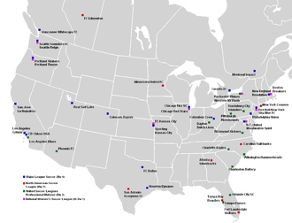 2013 in American soccer - The professional soccer clubs of the United States and Canada for 2013.