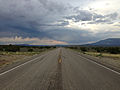2014-07-18 19 13 11 View east along U.S. Route 6 about 15.1 miles east of the Nye County Line in White Pine County, Nevada.JPG