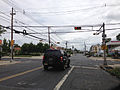 2014-08-30 11 17 48 A horizontal traffic signal on Brunswick Avenue (U.S. Route 206 northbound) at Southard Street in Trenton, New Jersey.JPG