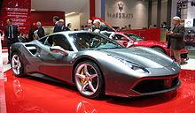 Ferrari 488 GTB del 2015, esempio di vettura stradale della Ferrari