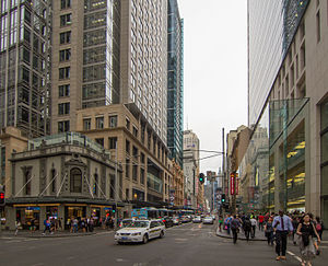 Sydney central business district - George Street, the main CBD thoroughfare