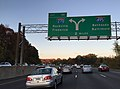 2015-11-05 16 43 33 View north along Interstate 495 (Capital Beltway) passing Exit 39 and approaching the Interstate 270 interchange on the edge of Potomac and Bethesda in Montgomery County, Maryland.jpg