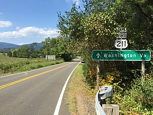 U.S. Route 211 - View east along US 211 Bus and north along US 522 Bus near Washington