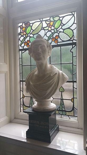 Arthur Jacob - Photograph of a marble bust of Arthur Jacob on the main staircase of the Royal Victoria Eye and Ear Hospital, Dublin, Ireland