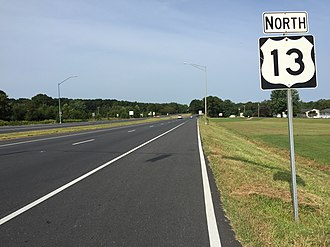 U.S. Route 13 in Maryland - View north along US 13 entering Somerset County